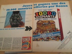 Page De Revue Des Années 60/70 : CADEAU BONUX MONTRES A GAGNER  Format : Double Page A4 - Other