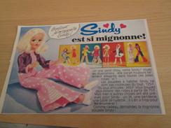 Page De Revue Des Années 60/70 : POUPEE SINDY , FORMAT 1/2 PAGE A4 - Other Collections