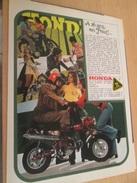 Page De Revue Des Années 60/70 : MOTOS HONDA  Format  Page A4 - Autres