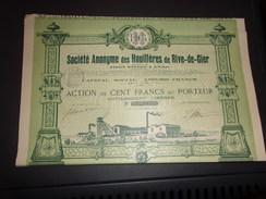 HOUILLERES DE RIVE DE GIER (1904) - Shareholdings