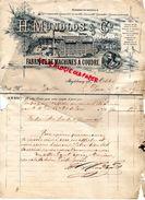 ALLEMAGNE- MAGDEBOURG- RARE LETTRE MANUSCRITE SIGNEE H. MUNDLOS-FABRIQUE MACHINES A COUDRE-MACHINE-1895 - 1800 – 1899