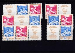 DDR, Kpl. ZD Kombinationen Der Nr 1761/62**, (W Zd 263-W Zd 268, Mi. 10,- Euro (T 502) - Zusammendrucke