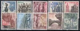Serie Completa Turismo España 1965, Edifil Num  1643 - 1652 ** - 1961-70 Nuovi