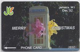 JAMAICA - MERRY CHRISTMAS '92 - 10JAMB - Jamaica