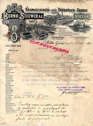 ALLEMAGNE- STETTIN GRUNHOF-RARE FACTURE BERNH STOEWER-NAHMASCHINEN UND FAHRRADER FABRIL-FABRIQUE MACHINES A COUDRE-1903 - Petits Métiers