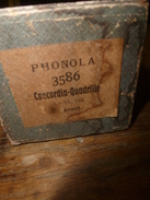 Rouleau Ancien Perforé Pour Piano Mécanique PHONOLA 3586 Concordia-Quadrille ,1. - VI. Teil Thonet - Objets Dérivés