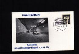 Deutschland / Germany 1974 Elbtunnel Interesting Postcard - Brücken