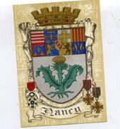 54 NANCY - Blason, Armes De La Ville, Héraldique - Superbe CPSM (à Plats Or Et Argent) N° 1325 H Barré-Dayez - Nancy
