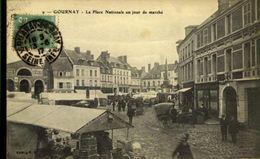 93 GOURNAY / LA PLACE NATIONALE UN JOUR DE MARCHE / A 72 - Gournay Sur Marne