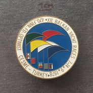 Badge (Pin) ZN006131 - Sailing (Yachting) Balkan Races Çeşme (Cesme) Turkey 1978-09 - Sailing, Yachting