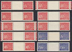 BOEMIA E MORAVIA - 1939/1940 - Segnatasse - Lotto 20 Valori; Yvert 1/10  Nuovi MNH. - Boemia E Moravia