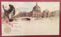 U.S.A.  CARTOLINA UFFICIALE WORLD'S COLUMBIAN EXDPOSITION FIERA COLOMBIANA DI CHICAGO 1893 - Other