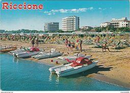 CARTOLINA - POSTCARD - RIMINI - RICCIONE - SPIAGGIA - Rimini