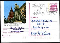 83622) BRD - P 138 - R3/44 - OO Gestempelt - 6500 Mainz, Gutenberg-Denkmal - [7] West-Duitsland