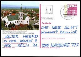 83624) BRD - P 138 - R3/46 - 5000 OO Gestempelt - 6507 Ingelheim, Saalkirche - Geïllustreerde Postkaarten - Gebruikt