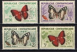 REPUBBLICA CENTROAFRICANA - 1960 - FARFALLE - BUTTERFLIES - NUOVI MNH - Repubblica Centroafricana
