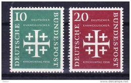 Duitsland 1956 Nr 109/10 ** Zeer Mooi Lot Krt 3812 - [7] République Fédérale