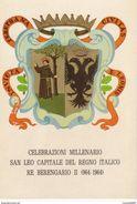 CARTOLINA - POSTCARD - RIMINI - S.LEO - CELEBRAZIONI MILLENARIO SAN LEO CAPITALE DEL REGNO ITALICO - Rimini