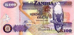 Zambia P.38 100 Kwacha 2008 Unc - Zambia