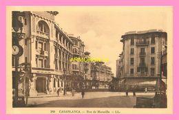 CPA CASABLANCA  Rue De Marseille - Casablanca