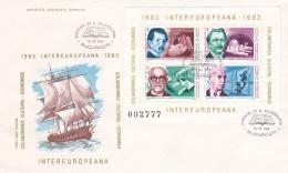 Romania FDC 1983 Intereuropeana Souvenir Sheet (LAR7-13) - FDC