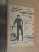 Page De Revue Des Années 60/70 : JOHNNY HALLIDAY SALUT LES COPAINS Format  1/4 Page A4 - Reclame