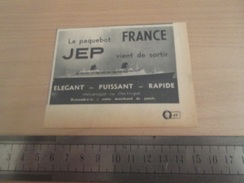 Page De Revue Des Années 60/70 : MODELE REDUIT JEP PAQUEBOT FRANCE Dimension Voir Règle Sur La Photo - Boats