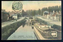 Cpa Du 80 Amiens Le Canal  GX47 - Amiens
