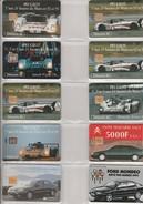 LOT DE 10 TELECARTES - THEME L'AUTOMOBILE  ANNEE 1992-94 - Phonecards