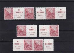 DDR, Kpl. ZD Kombinationen Der Nr 580 B**, (W Zd !9)-W Zd 23 Mi. 28,-  Euro (K 514) - Zusammendrucke