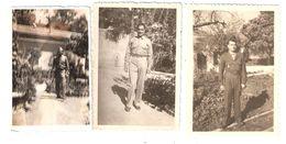3 Photos Originales Soldat Militaire, Guerre 39 - 45 , Algérie ? - War, Military