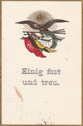 AK Einig Fest Und Treu - Adler Fahnen Deutschland Österreich Türkei - Patriotika - Reliefdruck - 1915 (32177) - Guerre 1914-18
