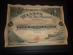 BANANA DU RIO GRANDE (nicaragua) 100 Francs - Zonder Classificatie