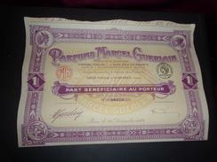 PARFUMS MARCEL GUERLAIN  (part Bénéficiaire) 1924 - Shareholdings
