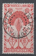 Madagascar,  London Set, 1f50., VFU, 1943  Nice Postmark From Majunga - Gebraucht