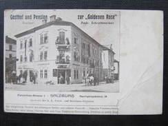 AK SALZBURG Gasthof Zur Goldenen Rose Auerspergstrasse 1910 // D*29236 - Salzburg Stadt