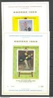 E 109/110 KNOKKE 1969 OP LUXEBLADEN  POSTFRIS** 1969 - Commemorative Labels