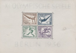Germany, Summer Olymmics, Berlin, 1936, MH VF  BF 5 - Germany