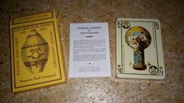 JEUX DE CARTES A JOUER - LES MONTGOLFIERES Baptiste Paul Grimaud - Etienne Et Joseph De MONTGOLFIER - MACHINE Volantes - 54 Cartes