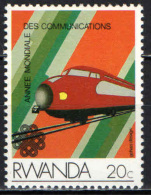 RUANDA - 1984 - LOCOMOTIVA - ANNO INTERNAZIONALE DELLE TELECOMUNICAZIONI - NUOVO MNH - Rwanda