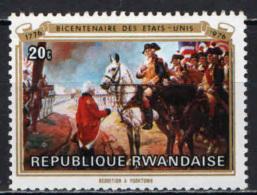 RUANDA - 1976 - BICENTENARIO DELL'INDIPENDENZA DEGLI STATI UNITI D'AMERICA - NUOVO MNH - Rwanda