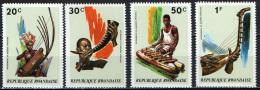 RUANDA - 1973 - SERIE STRUMENTI MUSICALI AFRICANI - NUOVI MNH - Rwanda