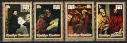 RUANDA - 1973 - OPERE D'ARTE: MANET, REMBRABDT, EL GRECO - PAINTINGS - NUOVI MNH - Rwanda