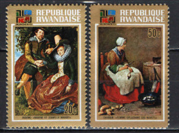 RUANDA - 1973 - OPERE D'ARTE - RUBENS- CHARDIN - PAINTINGS - NUOVI MNH - Rwanda