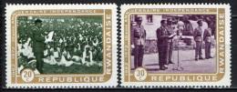 RUANDA - 1972 - VENTENNALE DELL'INDIPENDENZA - NUOVI MNH - Rwanda
