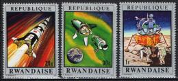 RUANDA - 1970 - MISSIONI NELLO SPAZIO - NUOVI MNH - Rwanda