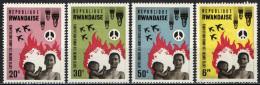 RUANDA - 1966 - LOTTA CONTRO LE ARMI NUCLEARI - NUOVI MH - Rwanda