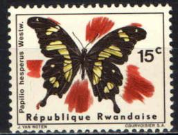 RUANDA - 1966 - FARFALLA - NUOVO MH - Rwanda