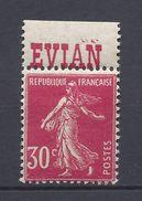 France Publicité - YT N° 191 - Neuf Avec Charnière - Source Cachat Evian - Advertising