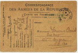 FRANCHISE MILITAIRE Correspondance Armées Soldat Pierre NEUVILLE Hôpital Temporaire 18 MONTAUBAN 17 Corps D'Armée SP 170 - Postmark Collection (Covers)